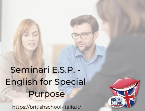 SEMINARI ESP – ENGLISH FOR SPECIAL PURPOSE